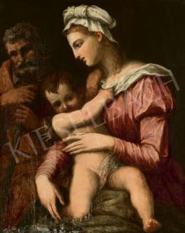 16. századi itáliai festő (Domenico Beccafumi köre) - Madonna a gyermekkel
