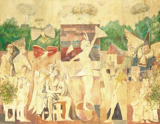 Nagy Gábor - Mutatványosok I. festménye