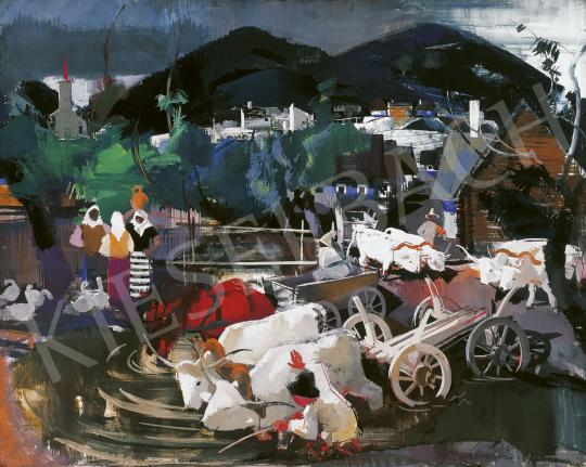 Eladó Aba-Novák Vilmos - Székely falu (Zsögöd), 1935 festménye