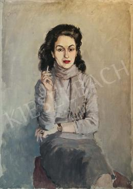 Biai-Föglein, István - Portrait of Hédi Zsolnai (Smoking Woman)