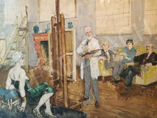 For sale Biai-Föglein, István - In the Studio 's painting