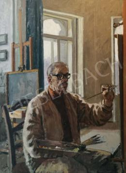 Biai-Föglein, István - Self-Portrait in the Studio