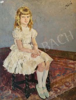 Biai-Föglein István - Kislány fehér ruhában