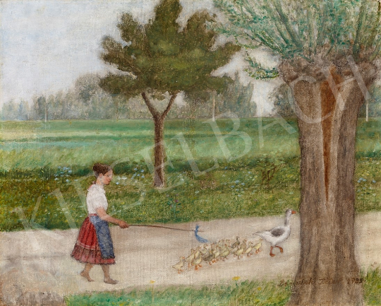 For sale  Benedek, Péter - Goose Herd, 1935 's painting
