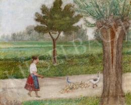 Benedek Péter - Libapásztorlány, 1935