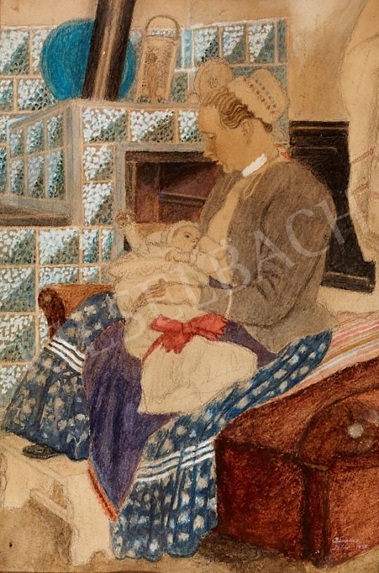 Eladó  Benedek Péter - Anya gyermekével, 1928 festménye