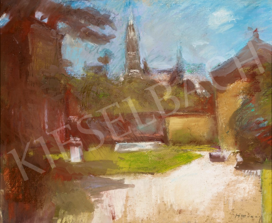 For sale Hatvany, Ferenc - Castle Garden with Church Tower, c. 1930 's painting