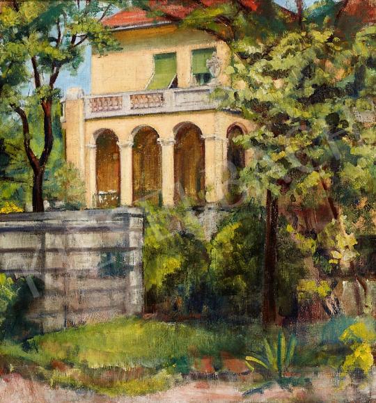 Eladó Hatvany Ferenc - Napfényes sárga kastély, 1920-as évek festménye