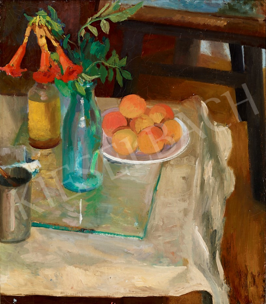 For sale Hatvany, Ferenc - Studio Still Life with Peaches, 1920's 's painting