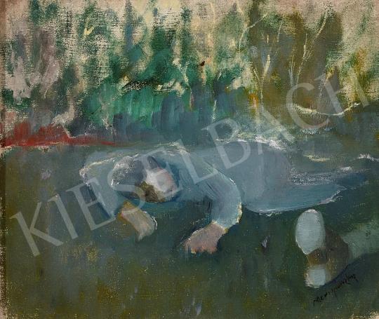 Eladó Mednyánszky László - Elesett katona, 1916 körül festménye