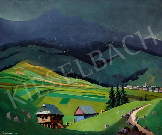 Eladó Nádasdi Sárközy Elemér - Viharban a Királyhegy, 1931 festménye