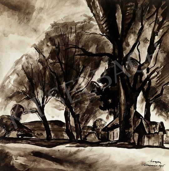 Zsögödi Nagy Imre - Ház a fák között, 1925 festménye