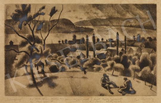 Eladó  Patkó Károly - Zebegény, 1934 körül festménye