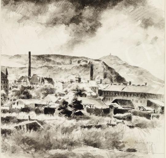 Eladó Tihanyi János Lajos - Városvégi részlet (Budai hegyek), 1929 festménye
