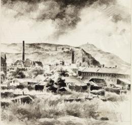 Tihanyi János Lajos - Városvégi részlet (Budai hegyek), 1929