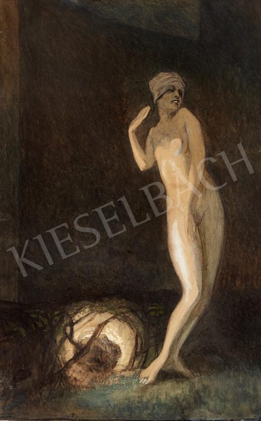 Eladó Bayros, Franz von - Turbános akt festménye