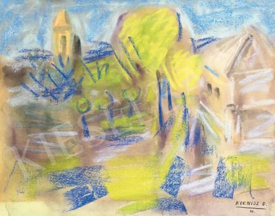 Eladó  Korniss Dezső - Szentendrei táj, 1943 festménye