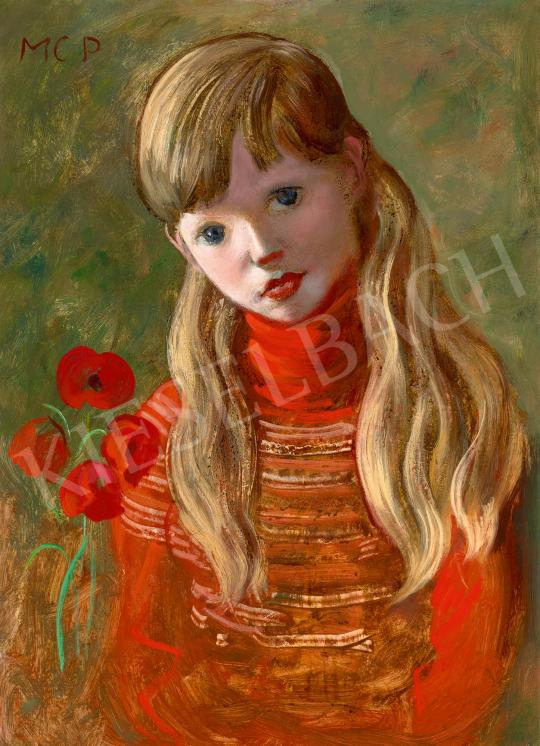 For sale  Molnár C., Pál - Blonde Girl with Poppies 's painting