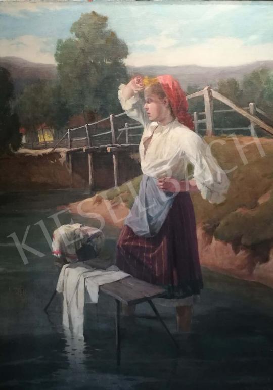 Eladó Markos Lajos - Patakban festménye