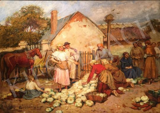 Deák-Ébner Lajos - Piacon festménye