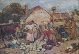 Deák-Ébner Lajos - Piacon