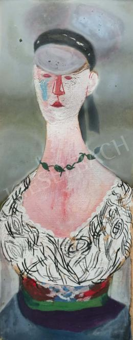 Anna, Margit - Lady in Elegant Dress and Necklace