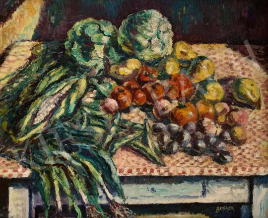 Eladó Bertalan Albert - Asztali csendélet zöldségekkel és gyümölcsökkel festménye