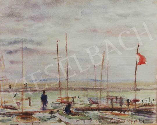 Diósy, Antal (Dióssy Antal) - Windy Balaton painting