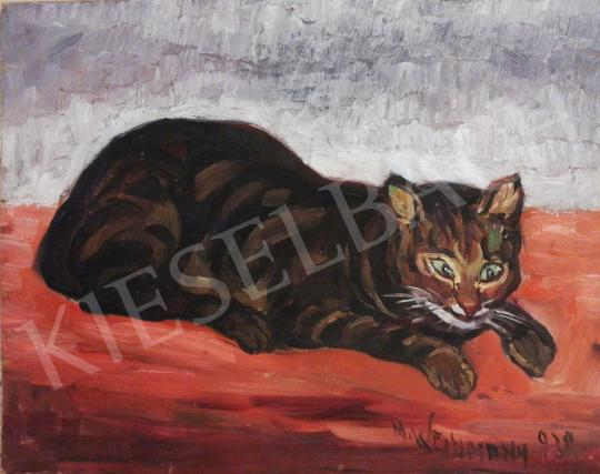 For sale Vágh-Weimann, Mihály (Vágh-Weimann Móric, Vág - Lying Cat 's painting
