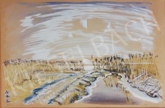 Boromisza Tibor - Téli látkép festménye