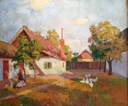 Kléh János - Falusi udvar