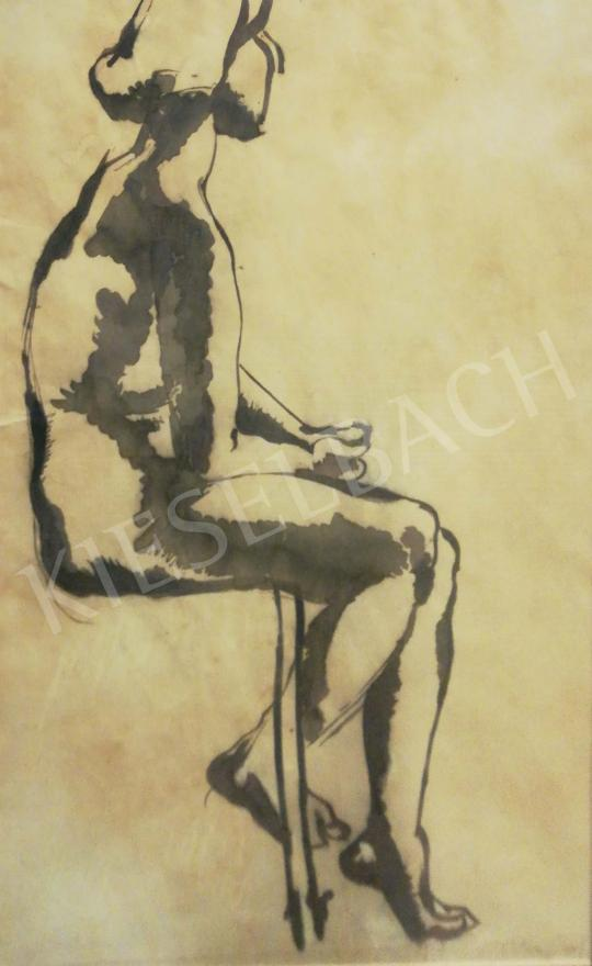 For sale  Hajnal, János - Sitting Nude 's painting