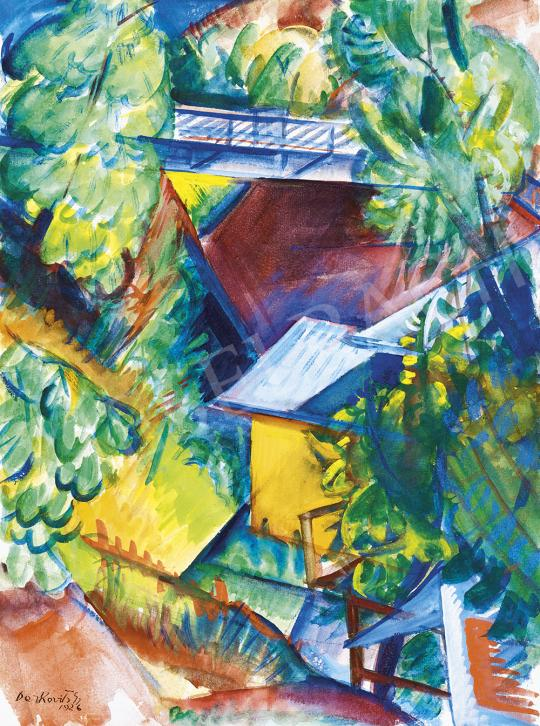 For sale Derkovits, Gyula - Roof Tops, 1926 's painting