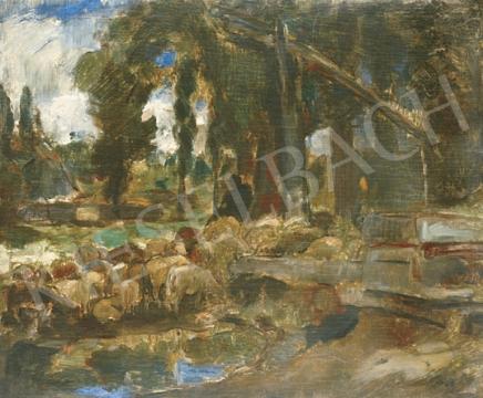 Eladó  Iványi Grünwald Béla - Itatás festménye