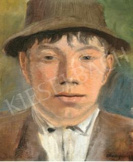 Mednyánszky László - Kalapos fiúportré