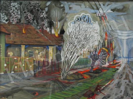 Bukta Imre - Falu eladó festménye