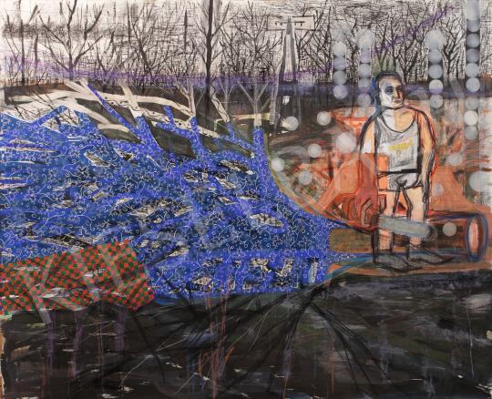 Bukta Imre - Nagymama unokája festménye