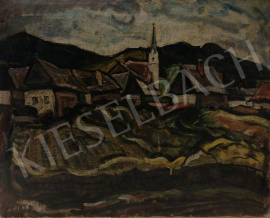 Eladó  Pór Bertalan - Falu dombok között, 1920 festménye