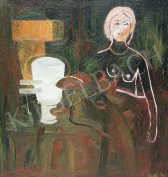 Eladó  Bukta Imre - Lány a tehenészetből festménye
