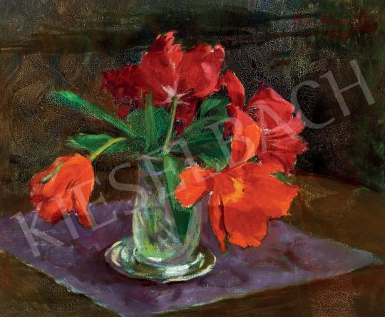 For sale  Benkhard, Ágost - Red Tulips 's painting