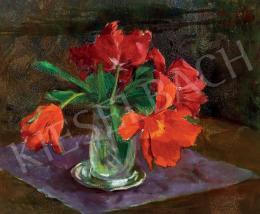 Benkhard Ágost - Piros tulipánok