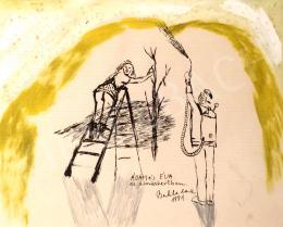 Bukta Imre - Ádám és Éva az almáskertben (1991)