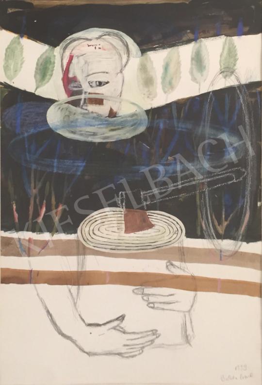 Bukta Imre - Férfi baltával festménye
