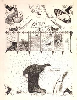 Bukta Imre - Fitkív naptárlap/május (1987)