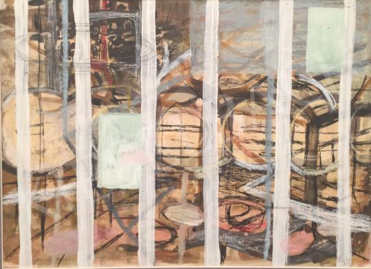 Bukta Imre - Kerítés mögött festménye