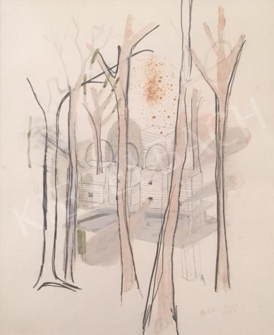 Bukta Imre - Méhes az akácosban festménye