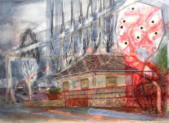 Bukta Imre - Falu széli ház festménye