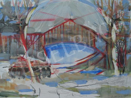 Bukta Imre - Tavaszi hóolvadás festménye