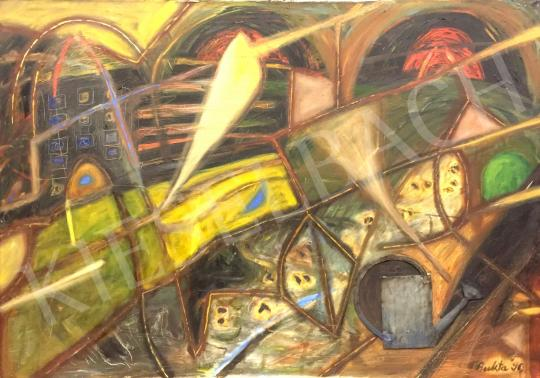 For sale  Bukta, Imre - Landscape with watering can, 1990 's painting