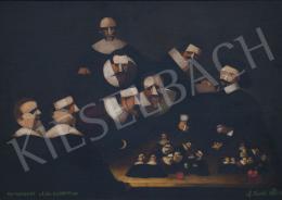 efZámbó István - Tulp doktor anatómiája Rembrandt modorában